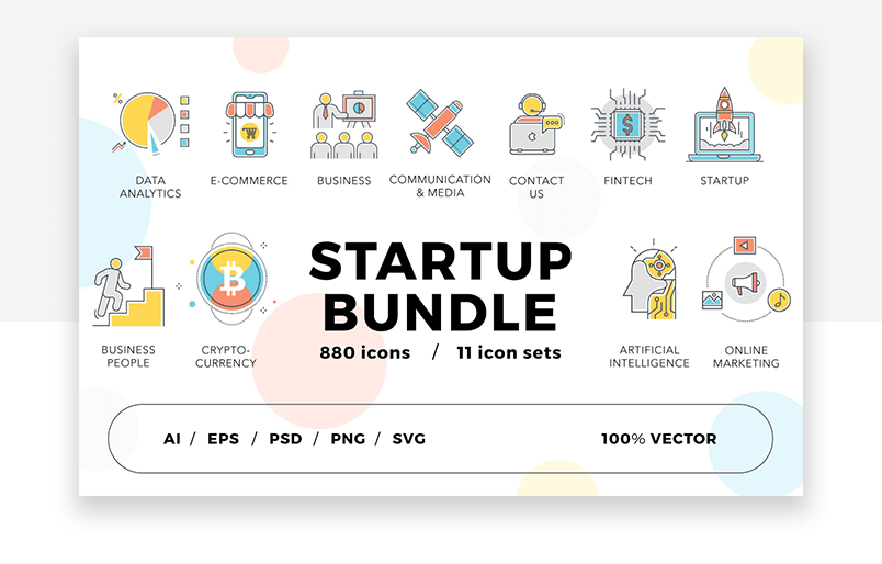 Website icons for startups - great UX design