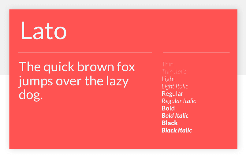 Lato - 15 best Google Fonts for your website - Justinmind