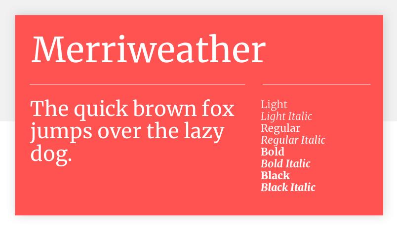 Merriweather - 15 best Google Fonts for your website - Justinmind