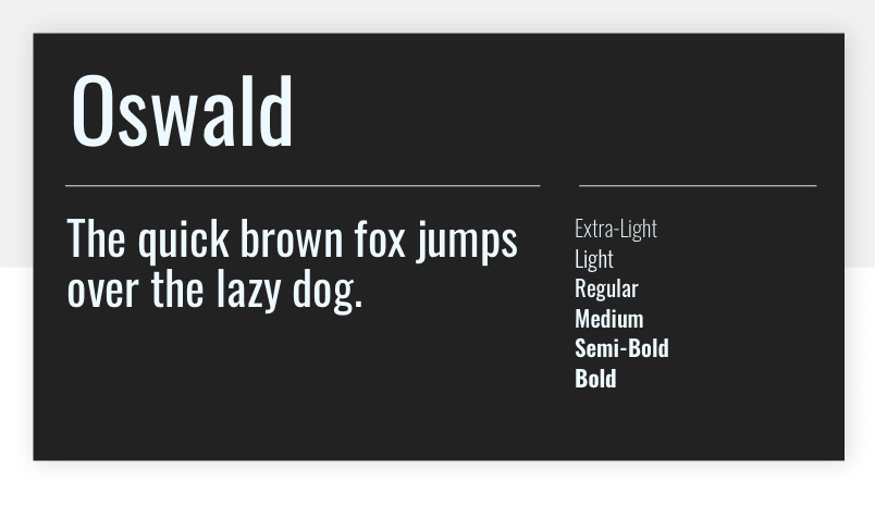 Oswald - 15 best Google Fonts for your website - Justinmind