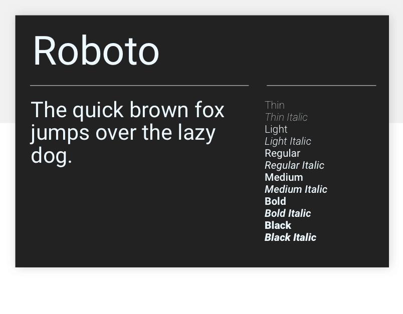 Roboto - 15 best Google Fonts for your website - Justinmind