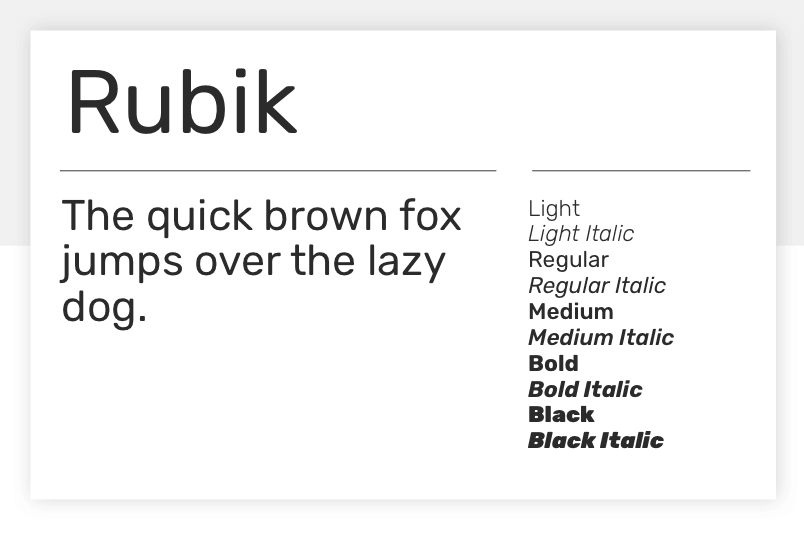 Rubik - 15 best Google Fonts for your website - Justinmind