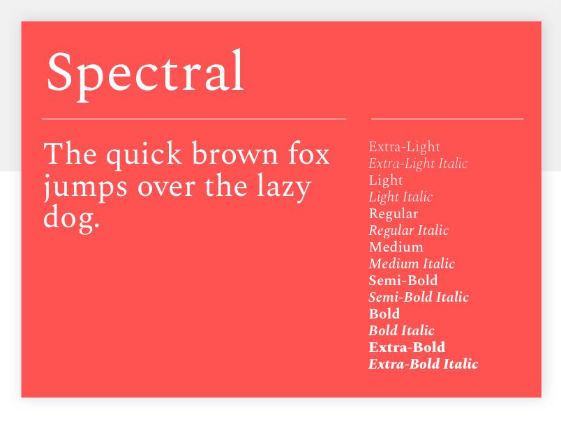 Spectral - 15 best Google Fonts for your website - Justinmind