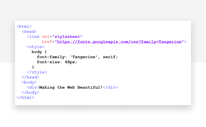 15 best Google Fonts for your website - Justinmind - HTML snippet