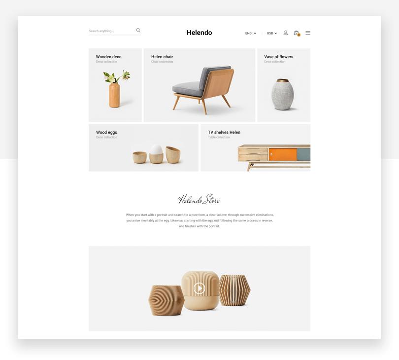Helendo - responsive website mockup template - Justinmind