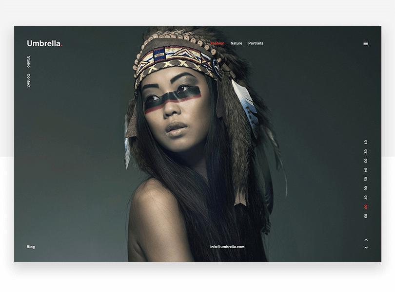 Umbrella - responsive website mockup template - Justinmind
