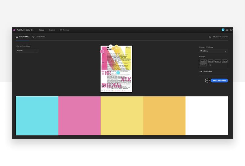Adobe Color CC - mockup design - Justinmind