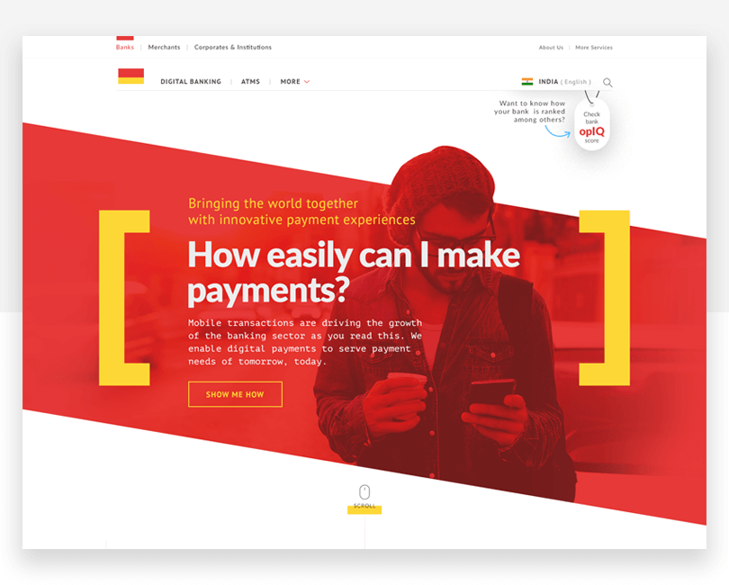 Digi-Bank - free responsive website mockup template - Justinmind