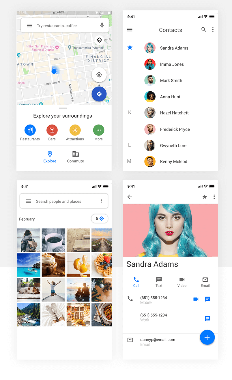 Structural grid layouts - Android Material Design 2