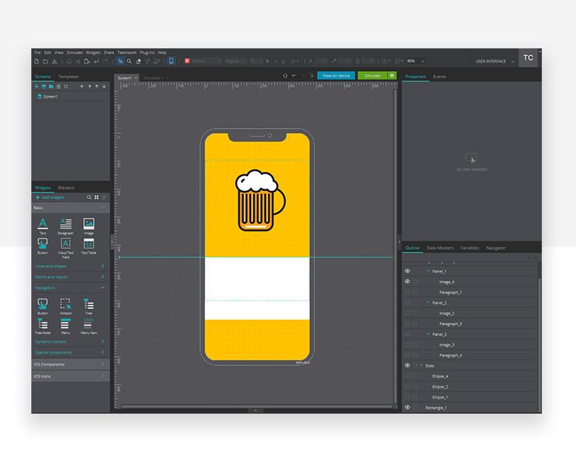 Adding images - mockup design - Justinmind