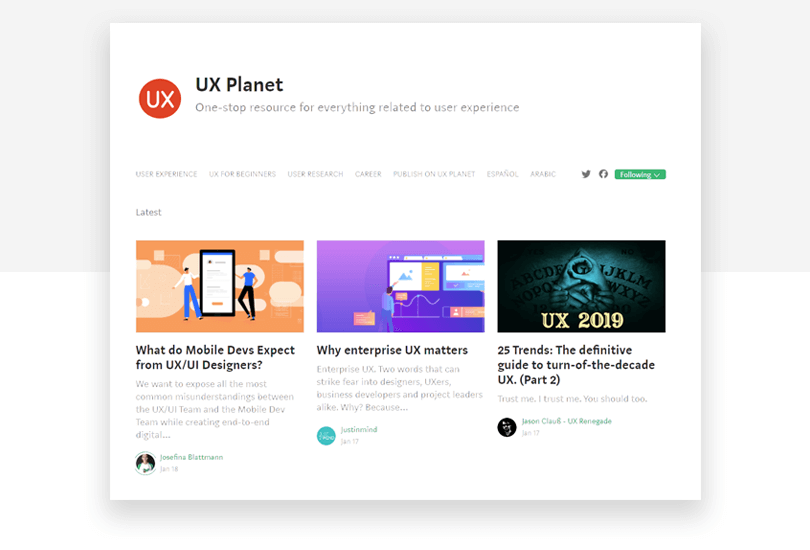 UX Planet - 50 free app design resources - Justinmind