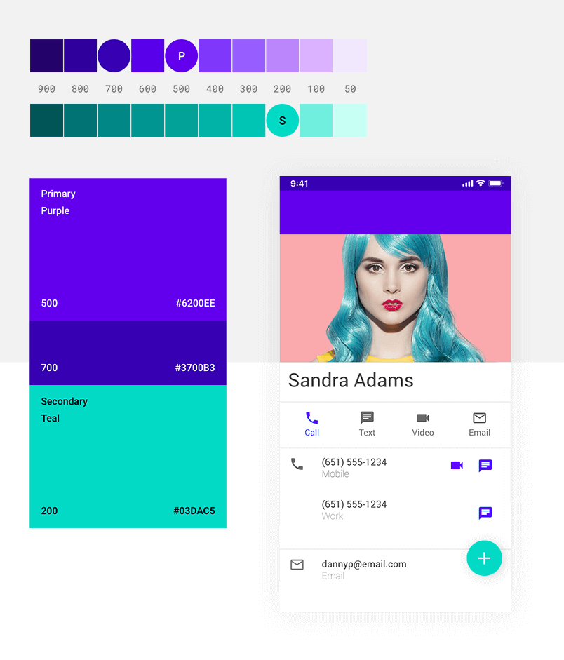 Color schemes should represent you brand - Android Material Design 2