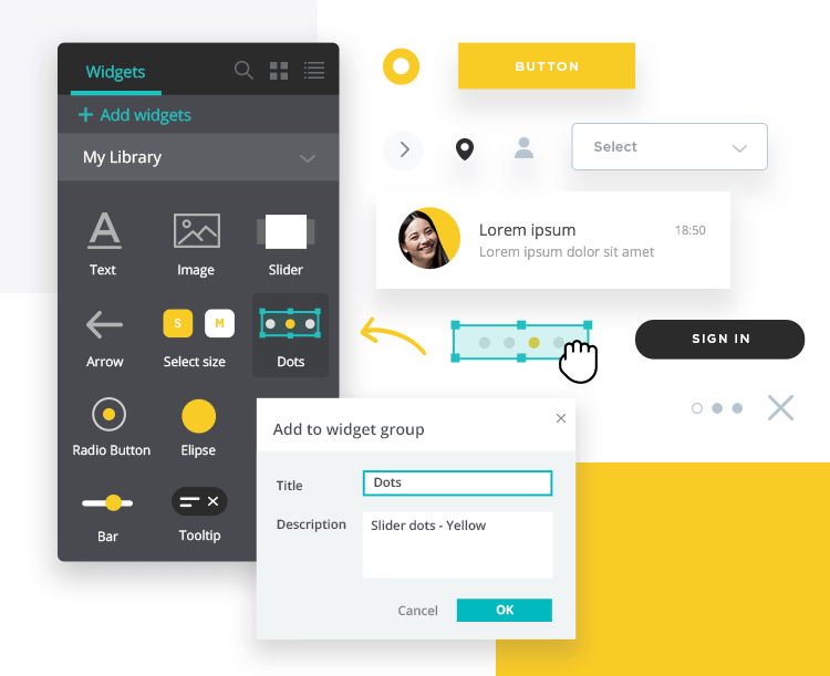 Create custom UI kit in a design system - Justinmind