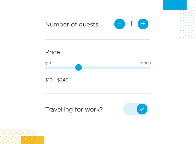 different examples of action buttons for app form design