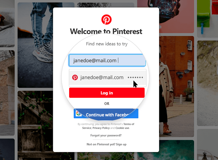 showing examples of autofill in web form designs - pinterest