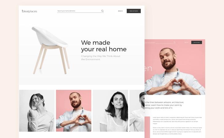Complete responsive site prototype