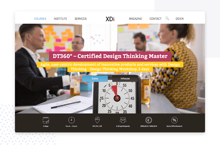 certified design thinking master by Xdi