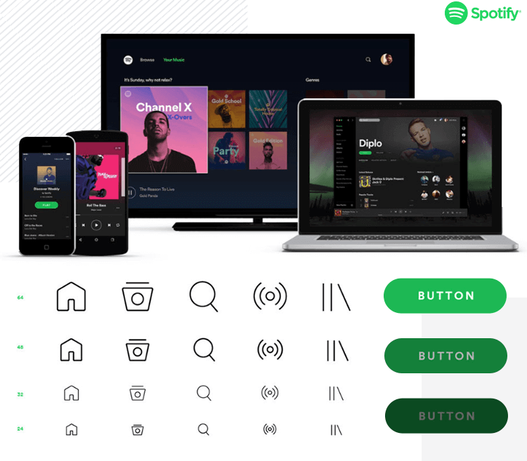 material design within spotify's design system
