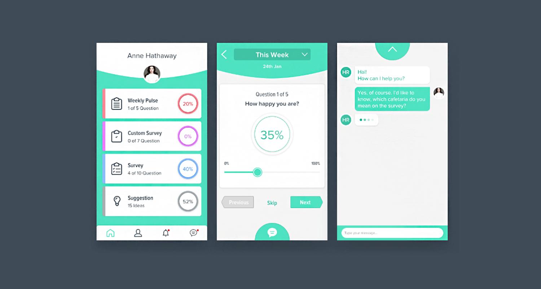 form example employee satisfaction in app