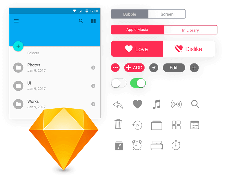 Export Sketch UI assets to Justinmind