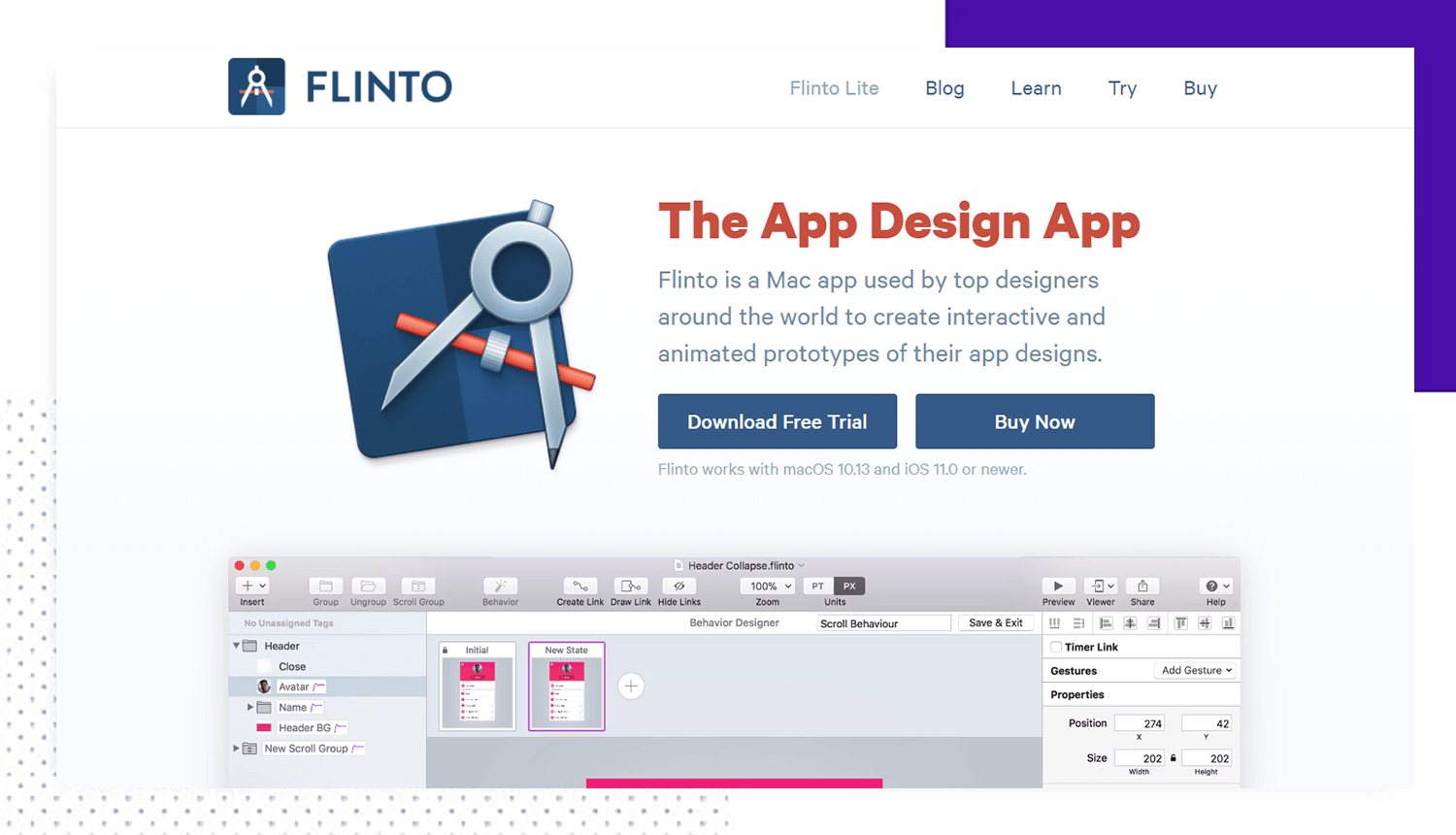 flinto as a prototyping tool for design thinking