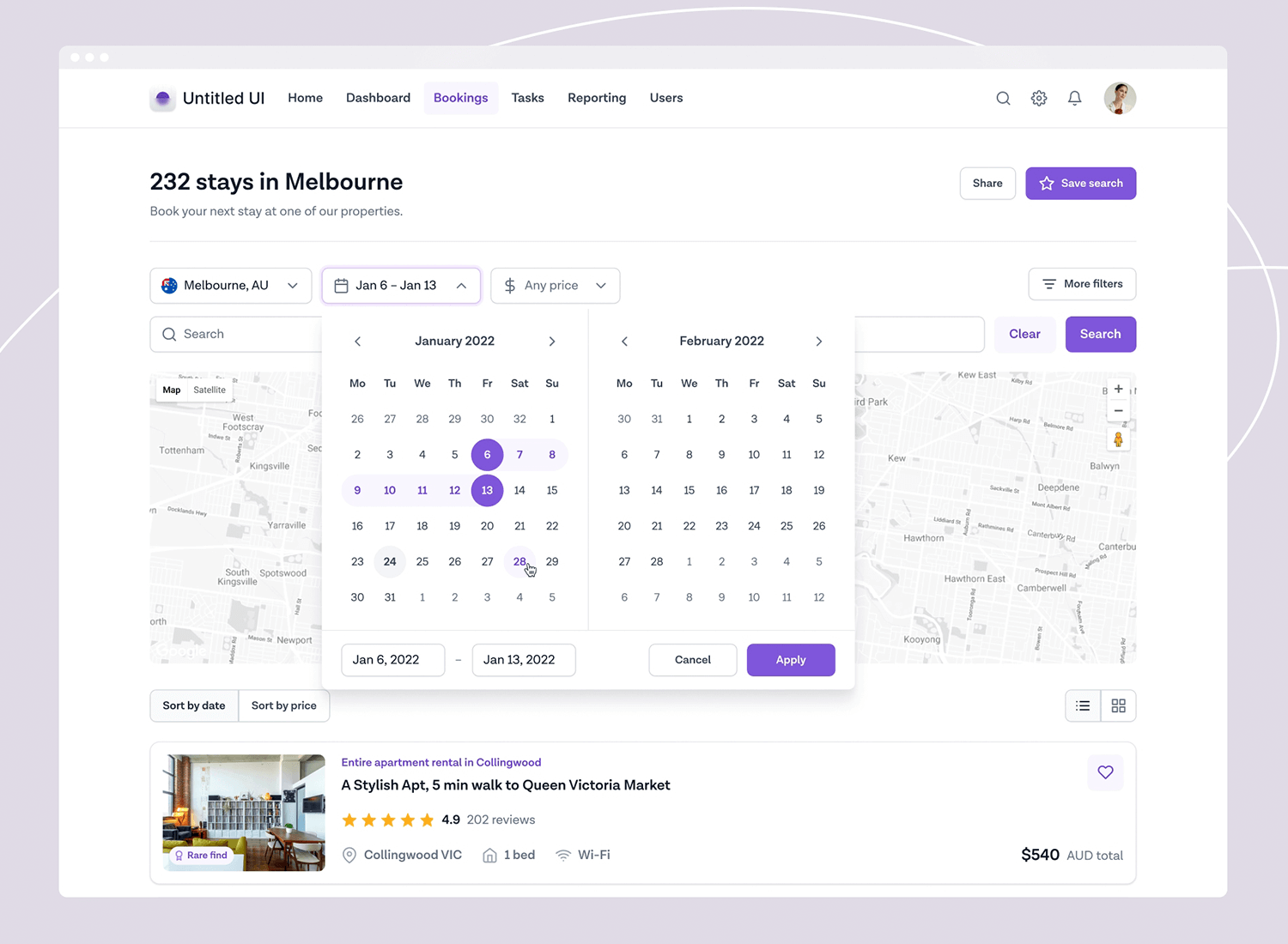 flight booking form example from dribbble