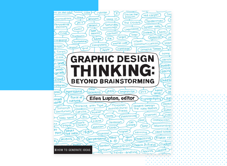 cover of graphic design thinking book