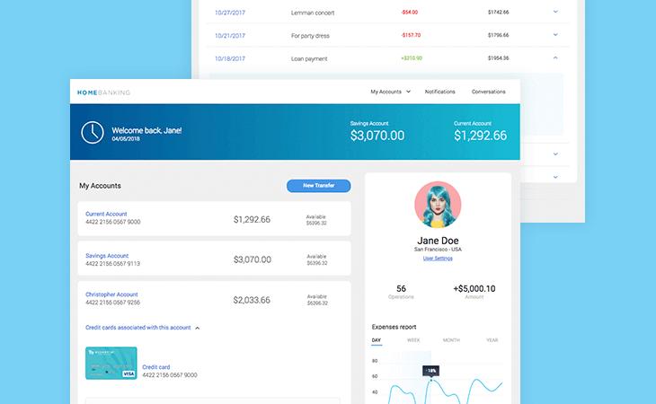 Home banking web prototype