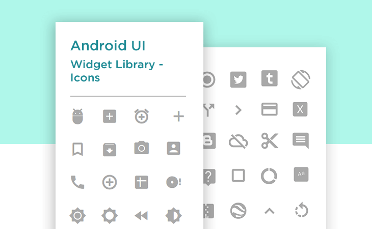 Justinmind Android Icons UI kit