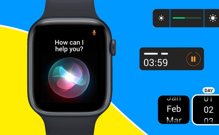 Justinmind Apple Watch UI library