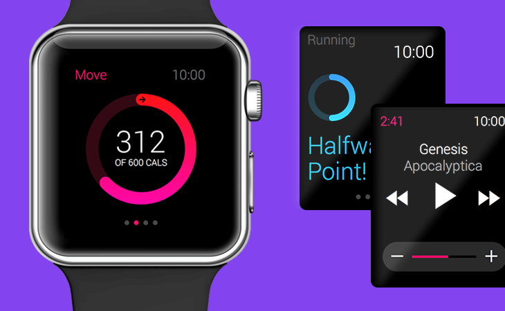 Justinmind Apple Watch UI library