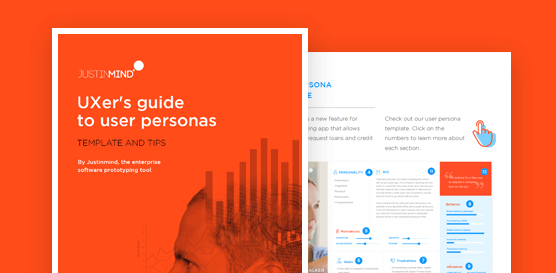 Justinmind free UX persona template