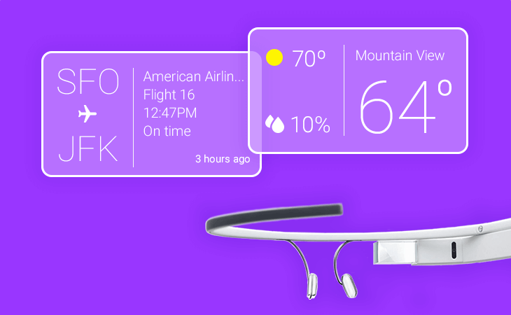 Justinmind Google Glass components