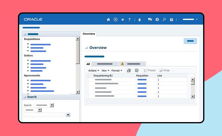 Oracle Fusion ERP UI kit