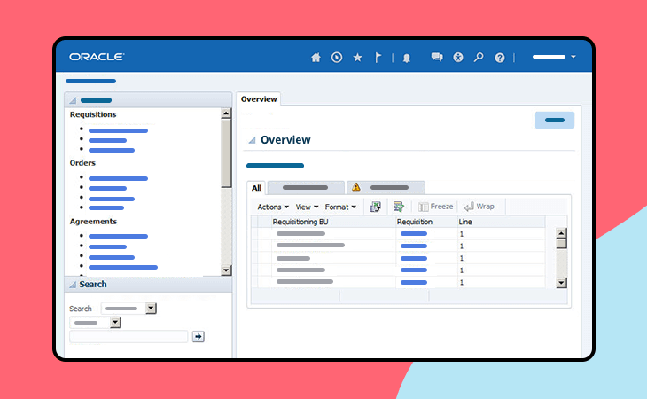 Oracle Fusion ERP UI kit