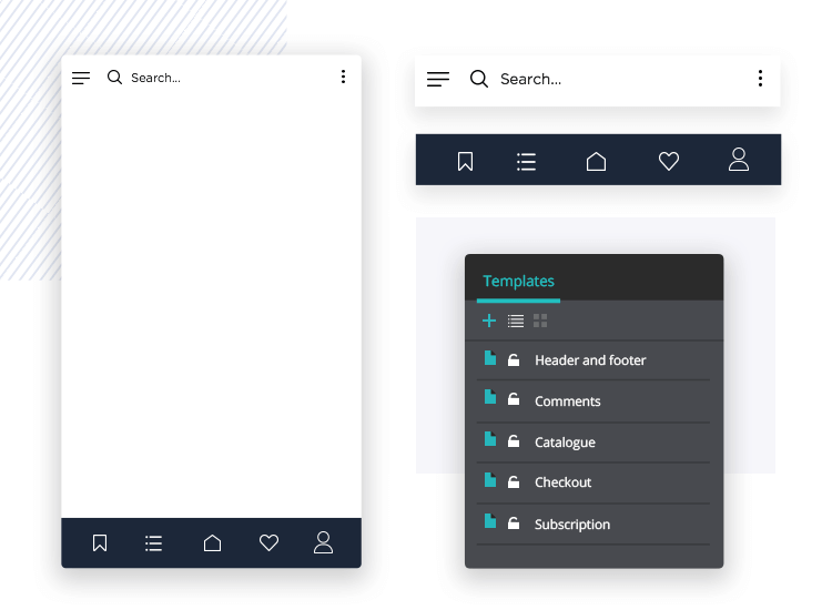 Reduce design workload - create templates and masters for your Sketch mockup in Justinmind