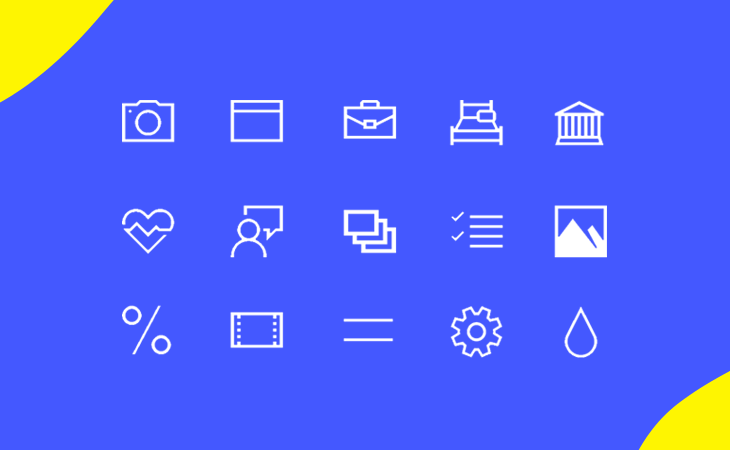 Justinmind Windows 10 Icon kit