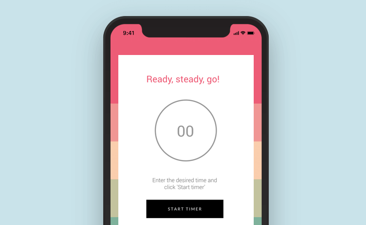 Manual countdown app design