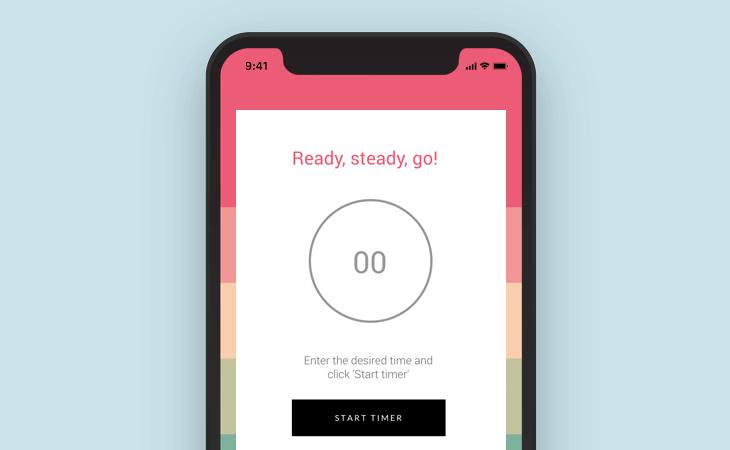 Manual countdown app design