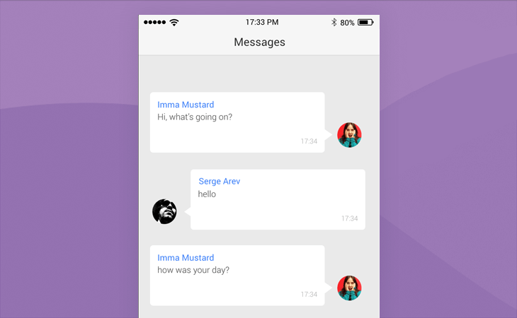 Text messaging app prototype