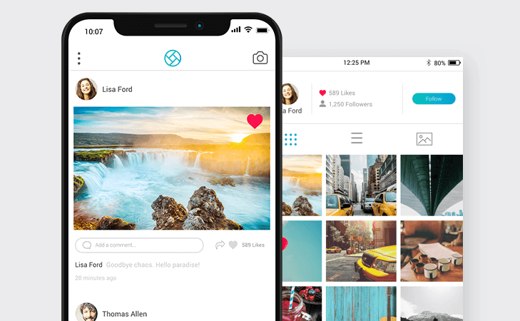 Photo sharing app design