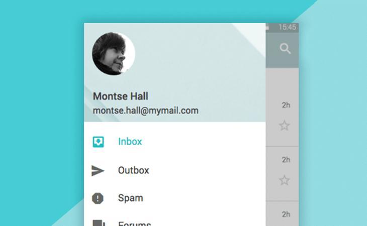 Slide menu interaction