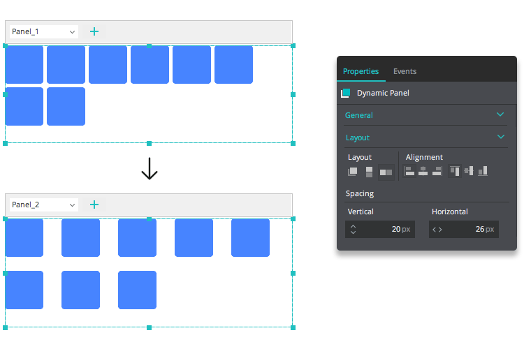 ui layout space wrapping ui elements feature