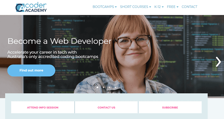 In-class web development course - Coder Academy (Australia)