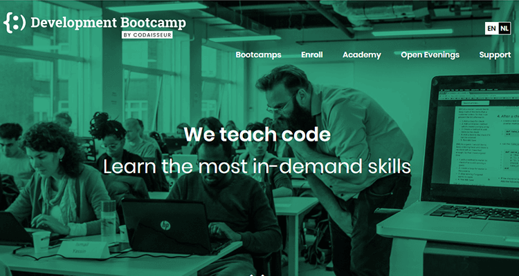 In-class web development course Development Bootcamp (EU)