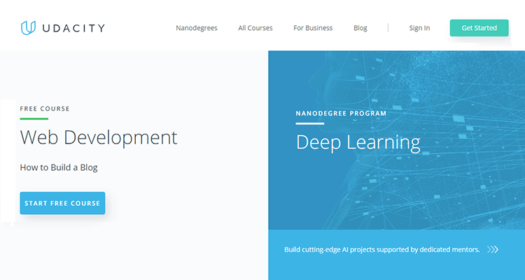 Online web development courses - Udacity