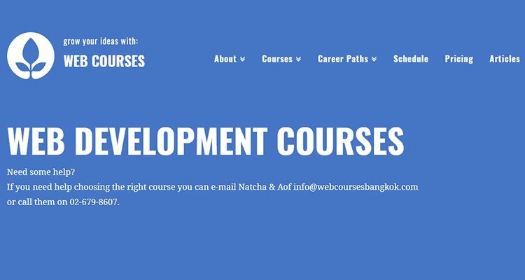 In-class web development course - Web Courses (Asia)