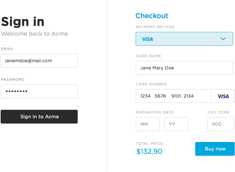 Guidelines For Awesome Web Form Design Justinmind