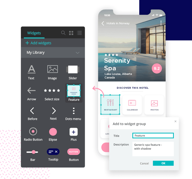 Justinmind mockup tool - create and maintain your own design system