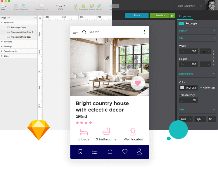 Create pixel-perfect mockups with the Justinmind-Sketch integration